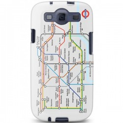 Cygnett, London Transport Series PC hard case Tube pre Samsung Galaxy S III, trasy metra CY0814CXTFL