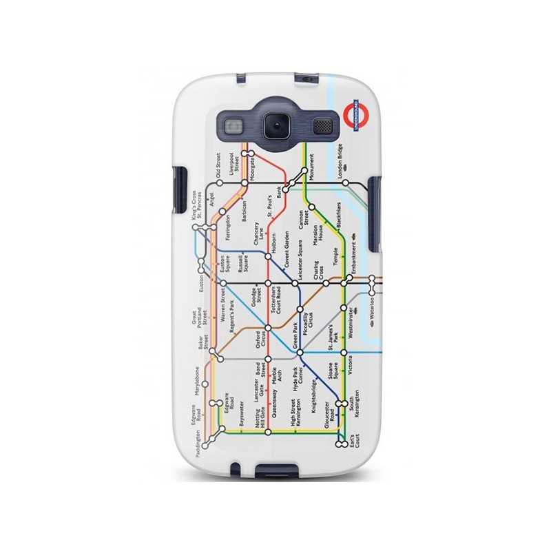 Cygnett, London Transport Series PC hard case Tube pre Samsung Galaxy S III, trasy metra CY0814CXTFL