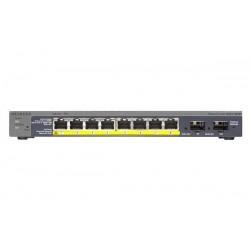 NETGEAR GS110TP 8x 10/100/1000Mbps + 2x SFP PoE GS110TP-200EUS