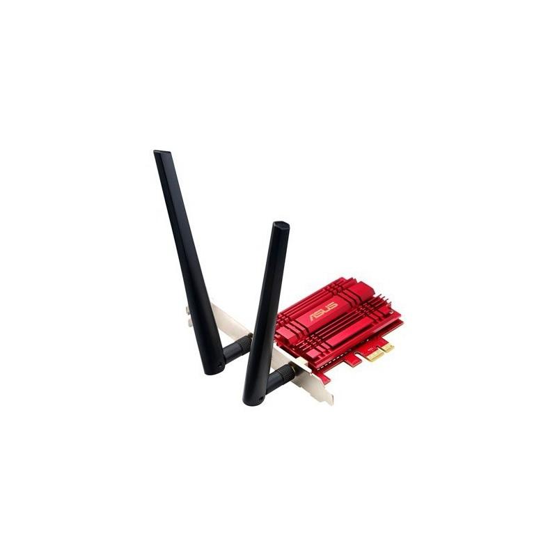 ASUS PCE-AC56 Bezdrátový PCI-E Adapter adaptér 802.11 AC rychlostí 867/400 Mb/s 90IG00K0-BM0000
