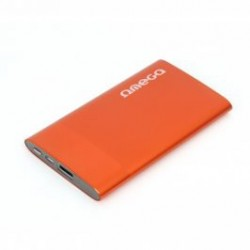 Omega POWER BANK, 1xUSB port 1A, orange, 5000 mAh. Externá batéria s nabíjačkou SKITOMPB5XBO