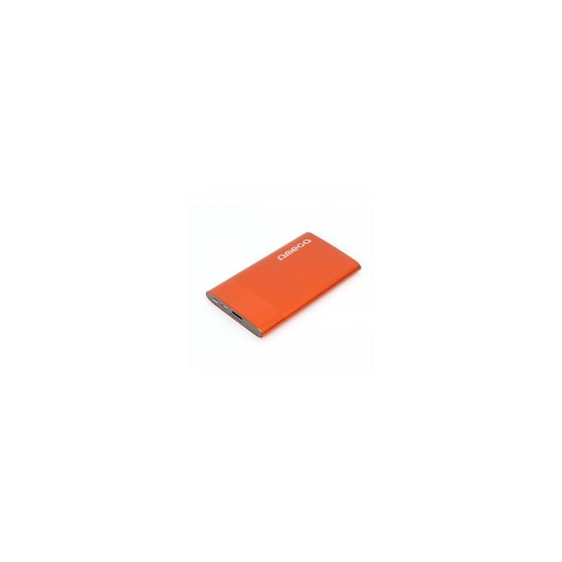 Omega POWER BANK, 1xUSB port 1A, orange, 5000 mAh. Externá batéria s nabíjačkou SKITOMPB5XBO