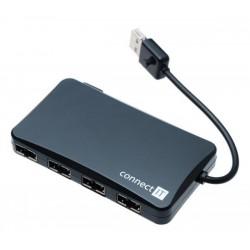 CONNECT IT USB 2.0 HUB so 4 obojstrannými portami REVERSE SKITCI141