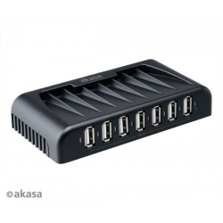 AKASA AK-HB-09BK 7-portový externý USB HUB, čierny Connect 7+ AK-HB-09BKEU