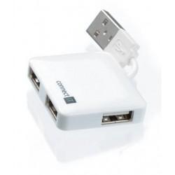 CONNECT IT 4-portový USB HUB MINI biely SKITCI52