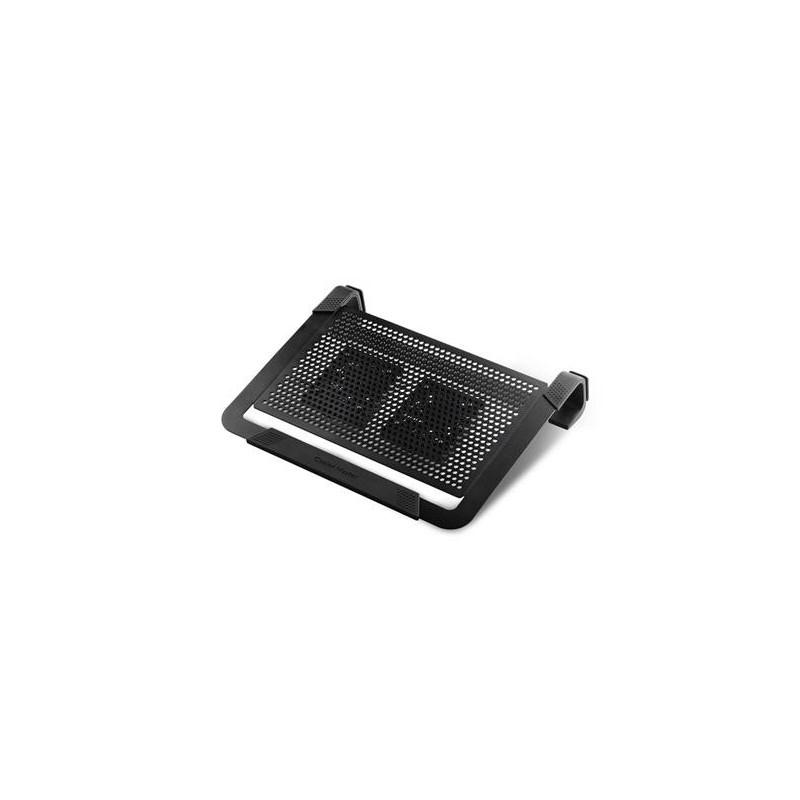 "chladiaci podstavec Coolermaster NotePal U2 PLUS pre notebooky 12-17"" čierny, 2x8cm ventilátor R9-NBC-U2PK-GP"