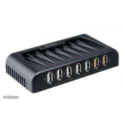 AKASA AK-HB-12BK 7-portový externý USB 2.0 HUB,