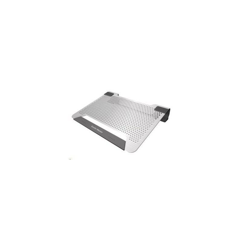 "chladiaci podstavec Coolermaster NotePal U2 PLUS pre notebooky 12-17"" strieborný, 2x8cm ventilátor R9-NBC-U2PS-GP"