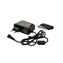Solight univerzálny sieťový adaptér 2000mA, stabilizovaný, výmenné konektory DA27