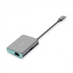 i-tec USB-C Metal Hub s Gigabit Ethernet adapterom C31METALANHUB