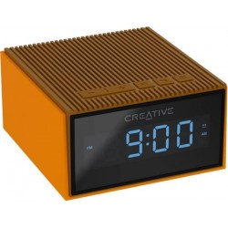 Creative CHRONO, FM rádiobudík, bluetooth reproduktor, brown 51MF8280AA001