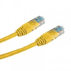 CNS patch kábel Cat5E, UTP - 0,5m , žltý PK-UTP5E-005-YL