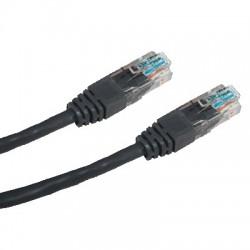 CNS patch kábel Cat5E, UTP - 0,5m , čierny PK-UTP5E-005-BK