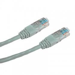 CNS patch kábel Cat5E, UTP - 0,25m , šedý PK-UTP5E-0025-GR