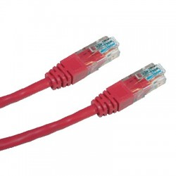 CNS patch kábel Cat5E, UTP - 0,5m , červený PK-UTP5E-005-RD