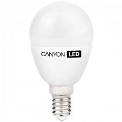 Canyon LED COB žiarovka, E14, kompakt guľatá mliečna, 3.3W, 250 lm, teplá biela 2700K, 220-240V PE14FR3.3W230VW