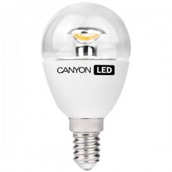 Canyon LED COB žiarovka, E14, kompakt guľatá priehľad. 3.3W, 250 lm, teplá biela 2700K, 220-240V PE14CL3.3W230VW