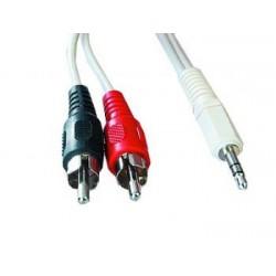 kábel Jack 3.5M - 2x Cinch M Stereo 1,5M SKKABJACKCINCH150CM