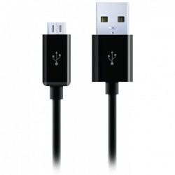 Cygnett prémiový nabíjací a synchronizačný kábel microUSB/USB, 2m, čierny CY1103PCCSM