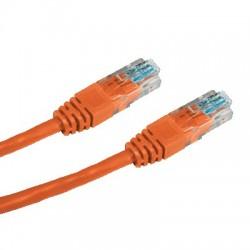 CNS patch kábel Cat5E, UTP - 0,5m , oranžový PK-UTP5E-005-OR