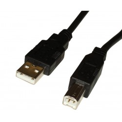 CNS USB 2.0 kábel, A/male - B/male, 1m, čierny CAB-USB2-AMBM-10BK