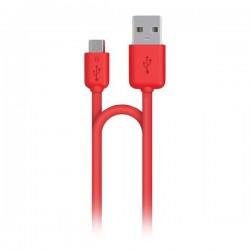 Cygnett nabíjací a synchronizačný kábel microUSB/USB, 1.2m, červený CY1480PCMIC