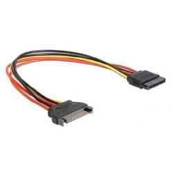 SATA kábel predlženie napájania, 30cm CC-SATAMF-01