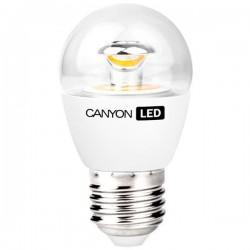 Canyon LED COB žiarovka, E27, kompakt guľatá priehľadná 6W, 494 lm, neutrál biela 4000K, 220-240V PE27CL6W230VN