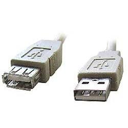 Kábel USB A-A 2.0 predlžovací, 0,5m, typ AM-AF šedý SKKABUSB20PR05MS