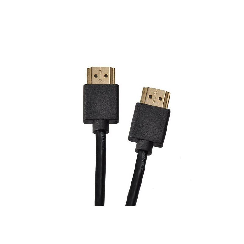 Solight HDMI slim kábel s Ethernetom, HDMI 1.4 A konektor - HDMI 1.4 A konektor, sáček, 50cm SSV22005E