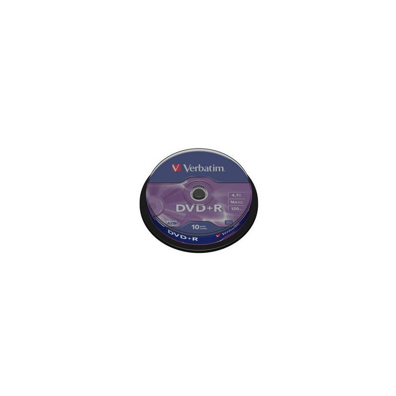 Verbatim - DVD+R 4,7GB 16x 10ks v cake obale SKVERB43498S