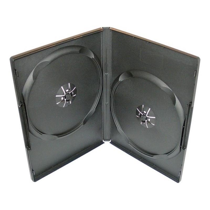 Box na 2 DVD, 14mm, čierny A-kvalita. SKITOBAL27115