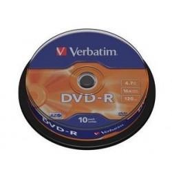 Verbatim - DVD-R 4,7GB 16x 10ks v cake obale SKVERB43523S