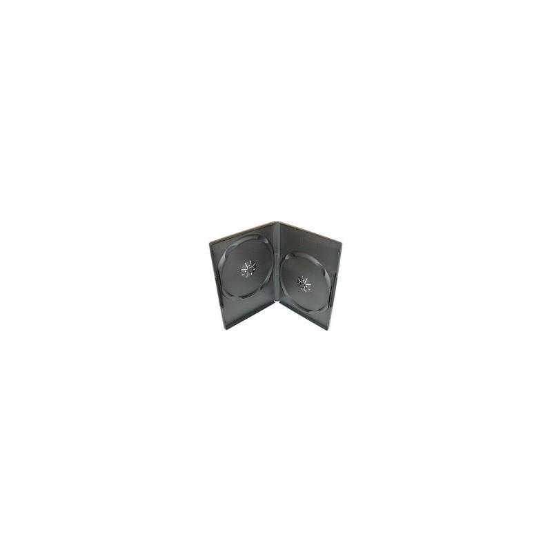 Box na 2 DVD, 9mm slim, čierny 27026