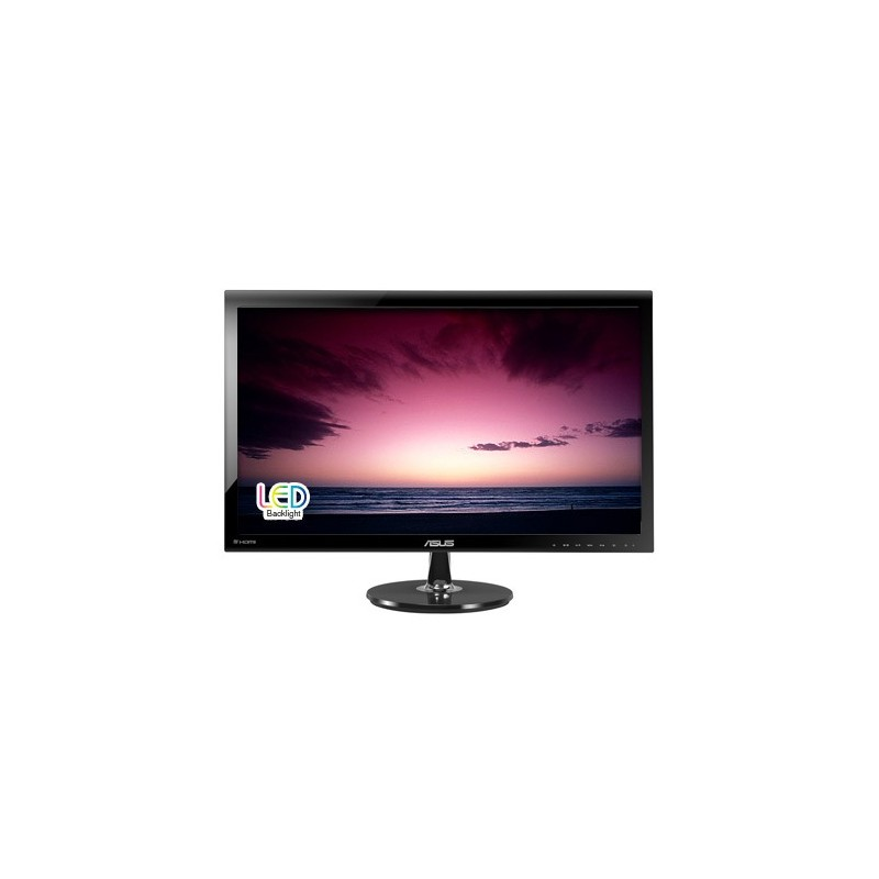 """ASUS VS278Q 27""""W LCD LED 1920x1080 80 000 000:1 1ms 300cd VGA 2xHDMI DP Repro čierny matný 90LMF6101Q01081C-"""