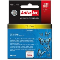 ActiveJet Ink cartridge Eps T0714 D78/DX6000/DX6050 Yellow - 15 ml AEB-714 EXPACJAEP0107
