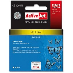 ActiveJet ink cartr. Eps T1294 Yellow SX525/BX320/BX625 100% NEW AE-1294 EXPACJAEP0206