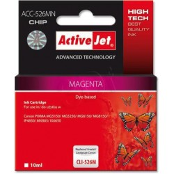 ActiveJet ink cartr. Canon CLI-526M - 10 ml - 100% NEW (WITH CHIP) ACC-526M EXPACJACA0107