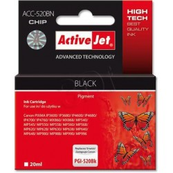ActiveJet Ink cartridge Canon PGI-520Black (WITH CHIP) ACC-520Bk EXPACJACA0079
