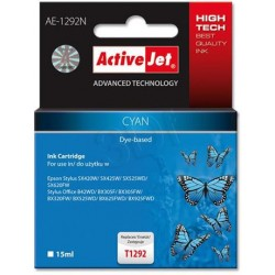 ActiveJet ink cartr. Eps T1292 Cyan SX525/BX320/BX625 100% NEW AE-1292 EXPACJAEP0204