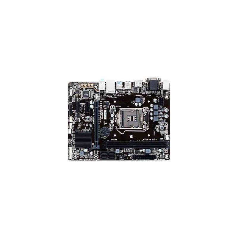 GIGABYTE MB Sc LGA1151 H110M-S2H, Intel H110, 2xDDR4, VGA, mATX