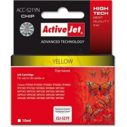 ActiveJet Ink cartridge Canon CLI-521Y (WITH CHIP) ACC-521Y EXPACJACA0083
