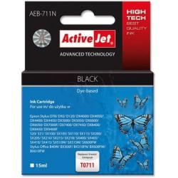 ActiveJet Ink cartridge Eps T0711 D78/DX6000/DX6050 Black - 15 ml AEB-711 EXPACJAEP0104