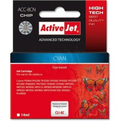 ActiveJet Ink cartridge Canon CLI-8 Cyan WITH CHIP - 14 ml ACC-8C EXPACJACA0068