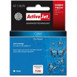 ActiveJet ink cartr. Eps T1282 Cyan S22/SX125/SX425 100% NEW AE-1282 EXPACJAEP0200