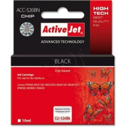 ActiveJet ink cartr. Canon CLI-526Bk - 10 ml - 100% NEW (WITH CHIP) ACC-526Bk EXPACJACA0105