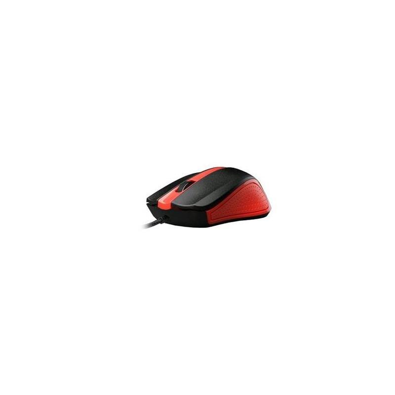 C-TECH myš WM-01, červená, USB MYSCT3222