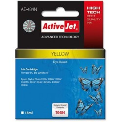 ActiveJet Ink cartridge Eps T0484 R200/R300 Yellow - 17 ml AE-484 EXPACJAEP0058