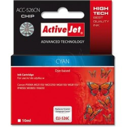 ActiveJet ink cartr. Canon CLI-526C - 10 ml - 100% NEW (WITH CHIP) ACC-526C EXPACJACA0106