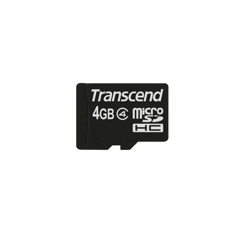 Transcend 4GB microSDHC (Class 4) paměťová karta (bez adaptéru) TS4GUSDC4